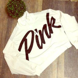Victoria's Secret mesh crop top sweatshirt